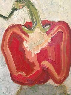 """Saatchi Online Artist: Anna Kodesch; Oil, 2012, Painting """"Red Pepper"""""""