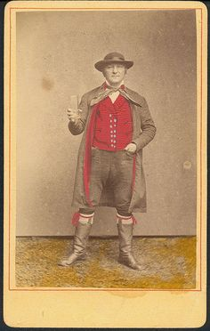 Man in folk costume from Renchtal in the Black Forest (Germany)