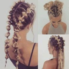 Pin by Evelyn Stelfox-Ventimiglia on Hair & Hair-dos in 2019 « Beauty MY Cute Hairstyles, Braided Hairstyles, Hairstyle Ideas, Wedge Hairstyles, Casual Hairstyles, Barbie Hairstyle, Hairstyle Names, Going Out Hairstyles, Softball Hairstyles