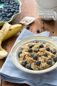 Overnight slow cooker quinoa and oats