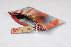 Hand Dyed Make-Up Zipper Pouch