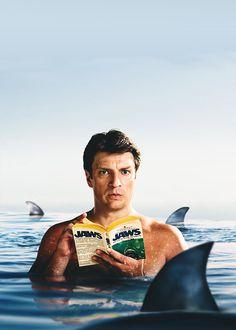Nathan Fillion Reading Jaws