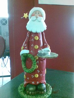 1 million+ Stunning Free Images to Use Anywhere Christmas Clay, Christmas Crafts, Christmas Ornaments, Bottle Art, Bottle Crafts, Decor Crafts, Diy And Crafts, Altered Bottles, Polymer Clay Crafts