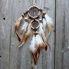 Double Dream Catcher  Boho Dreamcatcher  Two by VagaBoundPeople