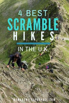 Best scramble hikes in the UK // Coolest scramble hikes in the world // World's coolest hikes // Best hikes in the UK // Best hike sin England, Wales, and Scotland // These 4 hikes require scrambling over rocks to get to the summit. They are perfectly sa Hiking Routes, Hiking Europe, Hiking Tips, Travelling Europe, Traveling, Scottish Highlands Tour, Highland Tours, Snowdonia National Park, Hiking With Kids