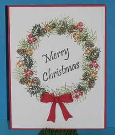 Homemade christmas cards creative christmas cards diy christmas rubber stamp tapestry christmas cards a great tutorial solutioingenieria Image collections