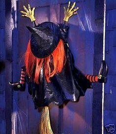 "3D Crashing Witch Outdoor Halloween Prop Decor 45"" Tall NEW"