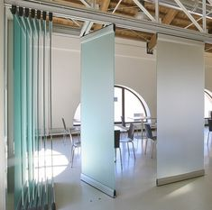 Modernglide movable acoustic wall Modernglide sliding folding partition Modernglide sliding glass partition Modernglide sound absorbant panels, walls that move