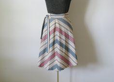 70s Skirt / 1970s Southwest Skirt / Chevron A by ProseAndPalaver, $22.00