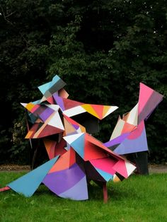 Incredible Giant Origami by Clemens Behr
