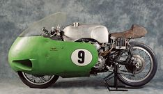 Yes, there's a V8 motorcycle: a remarkable racer produced by the iconic Italian brand Moto Guzzi.