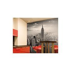 Manhattan Skyline Wallpaper Mural - New York cityscape feature wall decor Feature Wallpaper, Wallpaper Decor, Photo Wallpaper, Bedroom Wallpaper, Wallpaper Ideas, New York Cityscape, New York Skyline, Wall Stickers Red, New York Wallpaper