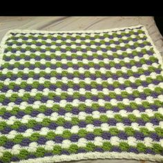Crochet Catherine wheel baby blanket