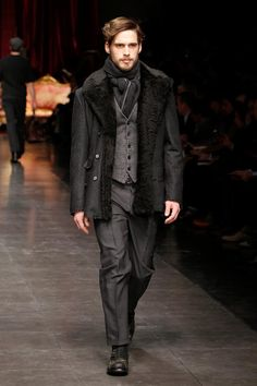 not the jacket... but everything else.   Dolce & Gabbana Men Winter 2013