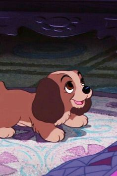 Lady from Lady and the tramp as a puupy