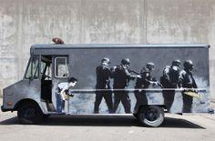 Swat Truck via Banksy