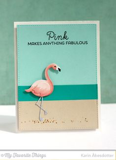 Tickled Pink, Blueprints 24 Die-namics, Flamingos Die-namics - Karin Åkesdotter  #mftstamps