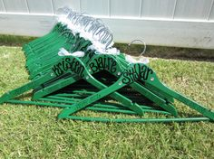 custom painted for the Jasper Jazz Drill Team in Plano, TX    custom painted hangers for CHEERLEADERS, dance teams, pom squads, and drill teams. $9.75, via Etsy.