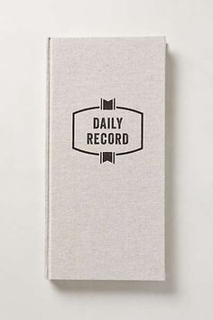 Anthropologie - Daily Record Journal