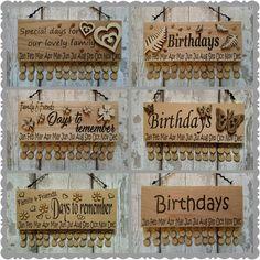 Office & School Supplies Beliebte Marke Bunte Glückliche Geburtstag Hängen Diy Holz Kalender Kalendar Erinnerung Bord Plaque Home Decor Anhänger Tag