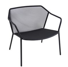 Darwin Lounge Armchair, Made in Italy by Emu. Stackable powdercoat steel chair. available in a range of colours.
