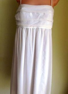 Kup mój przedmiot na #vintedpl http://www.vinted.pl/damska-odziez/krotkie-sukienki/3411122-sukienka-mgielka-na-ramiaczkach-ecru-40