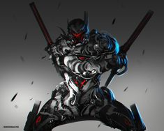All that is Robot Ronin Samurai, Samurai Art, Game Character, Character Concept, Character Design, Robot Concept Art, Armor Concept, Futuristic Armour, Futuristic Art