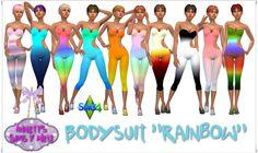 """Annett's Sims 4 Welt: Bodysuit """"Rainbow"""""""