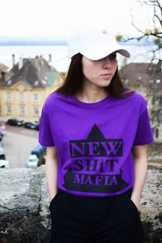 NSM WEAR URBAN COLLECTOR (VIOLET) The Collector, T Shirt, Urban, How To Wear, Collection, Tops, Women, Fashion, Blunt Haircut
