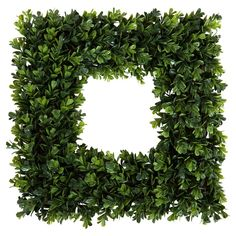 This Pure Garden Boxwood Wreath is a modern take on the traditional seasonal decor. This in. Great for your front door, above your mantle or a wall in your entryway, living room or kitchen. Pure Garden In. Artificial Boxwood Wreath, Artificial Plants, Fall Wreaths, Christmas Wreaths, Door Wreaths, Christmas Decorations, Square Wreath, Preserved Boxwood, Diy Wreath