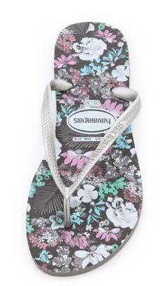 2957def13e2c Havaianas Floral Flip Flops. Love this print so much! Shoes Flats Sandals