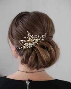 Low Elegant Wedding Bridal Updo Inspiration