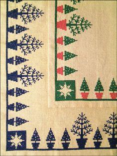 håndarbejdets fremme juletræstæppe