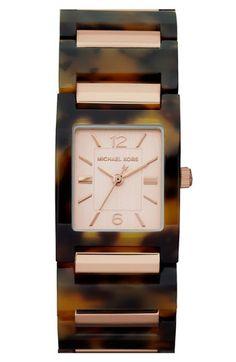 Michael Kors 'Tessa' Resin Bracelet Watch available at #Nordstrom 肖想好久. 真的點下去 -- 不送台灣!! 好難過!