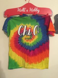 A personal favourite from my Etsy shop https://www.etsy.com/listing/250695782/sorority-fraternity-tie-dye-shirt