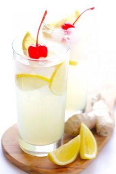 Tom Collins: zumo de limón, azúcar, soda y ginebra