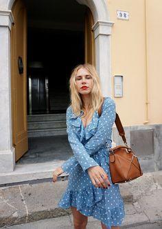 Blue polka dot Realisation Par dress