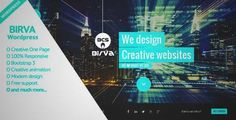 Download and review of BIRVA - Creative One Page Wordpress Theme, one of the best Themeforest Creatives themes