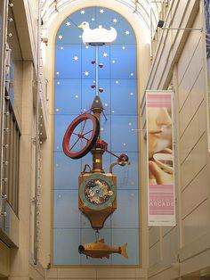 The Wishing Fish Clock in Regent Arcade