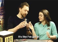 We got Tom Hiddleston and Maisie Williams to make each other out of modelling clay. Stick to the day job, guys . Video: https://twitter.com/JOE_co_uk/status/956932724836700166