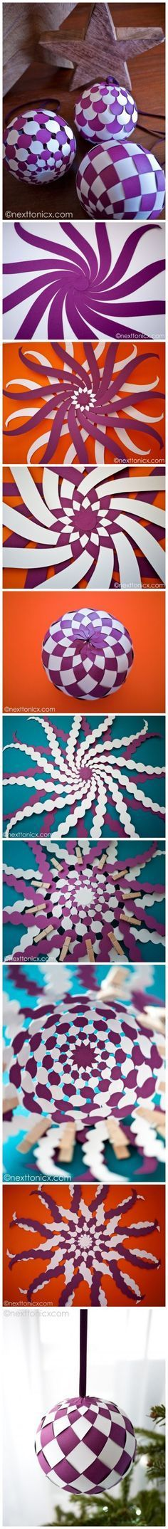 Ideas for diy paper ornaments origami ball Origami And Kirigami, Origami Paper, Diy Paper, Paper Art, Paper Crafts, Origami Ball, Oragami, Diy Origami, Creative Crafts