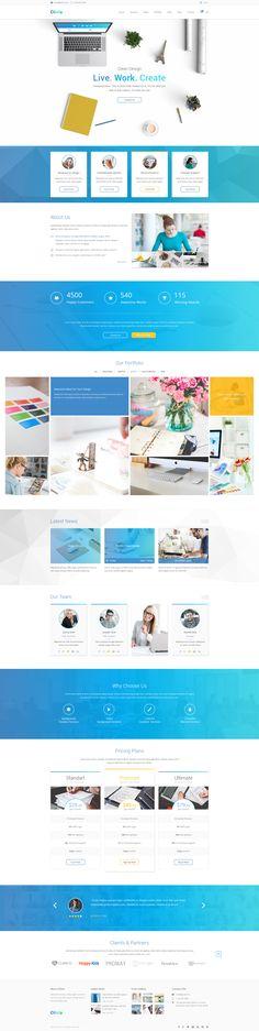 Olivia #Homepage. Creative #PSD #template