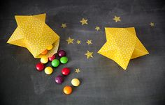 Favor Boxes: These favor boxes would be delightful at your child's next birthday party. The yellow color makes them work for boys and girls.  Here's Your Star-Studded Weekend: 21 Stellar DIYs via Brit + Co.