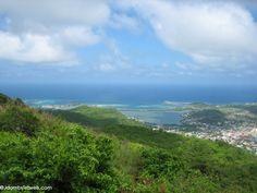 Pic Paradis is the highest elevation in St. Maarten. Enjoy hiking, stunning views, and zipline tours at FlyZone. #stmaarten #vacation #resort