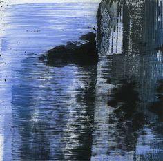 GRISAZUR: Acrílico sobre papel, 13x13 cm.Oct. 12, 2016