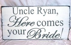 Personalize Your Own Here Comes The Bride by TheShabbyChicShoppe, $35.00