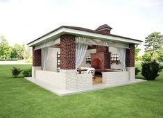 Outdoor Patio Bar, Outdoor Living, Outdoor Decor, Bbq Area, Backyard Garden Design, Story House, Door Design, Bungalow, Gazebo