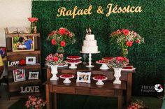 Ideias de decoração para a festa de noivado Wedding Decorations, Table Decorations, Marry You, Layout Inspiration, Dessert Table, Photo Booth, Diy And Crafts, Backdrops, Shabby Chic