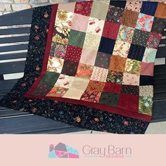 Sadie's Charm - A Free Quilt Pattern - Gray Barn Designs Charm Pack Quilt Patterns, Lap Quilt Patterns, Charm Pack Quilts, Jelly Roll Quilt Patterns, Charm Quilt, Sewing Patterns, Jellyroll Quilts, Lap Quilts, Mini Quilts