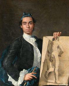 Luis Egidio Melendez  --  Self-Portrait With A Nude Study  --  1746-7  --  The Louvre  --  Paris, France